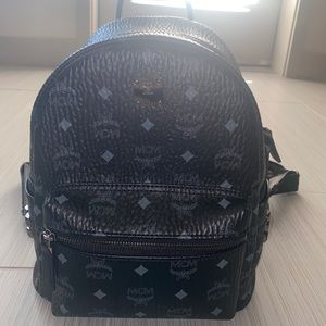 MCM Medium Sized All Black Backpack Worldwide